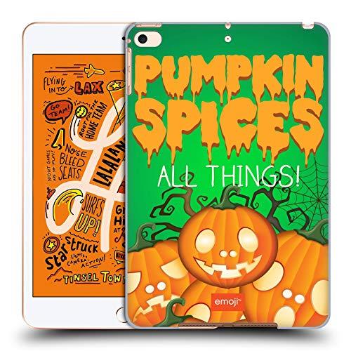 Head Case Designs Offizielle Emoji® Kürbis Gewürze Halloween Parodien Harte Rueckseiten Huelle kompatibel mit iPad Mini (2019)