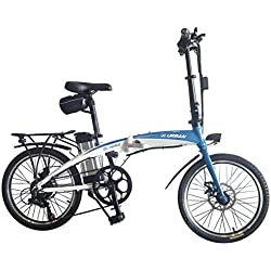 Helliot Bikes Byhell02 Bicicleta Eléctrica Plegable, Unisex Adulto, Azul/Blanco, Estándar