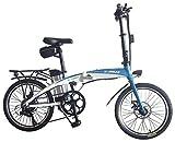 Helliot Bikes Byhell02 Bicicleta Eléctrica Plegable, Adultos Unisex, Azul/Blanco, Estándar