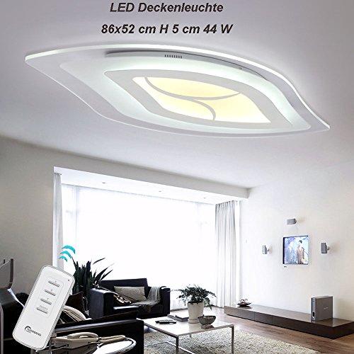 LED Deckenleuchte 1607-860. Mit Fernbedienung Lichtfarbe separat einstellbar A+ LED Wohnzimmerleuchte Kronleuchte Pendelleuchte DeckenlampeDeckenstrahler Beleuchtung