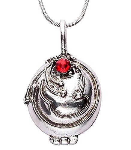 Vampire Diaries Elena Halskette Kette Eisenkraut Medallion Silberne Vampirkette (Asiatische Kostüm Schmuck)