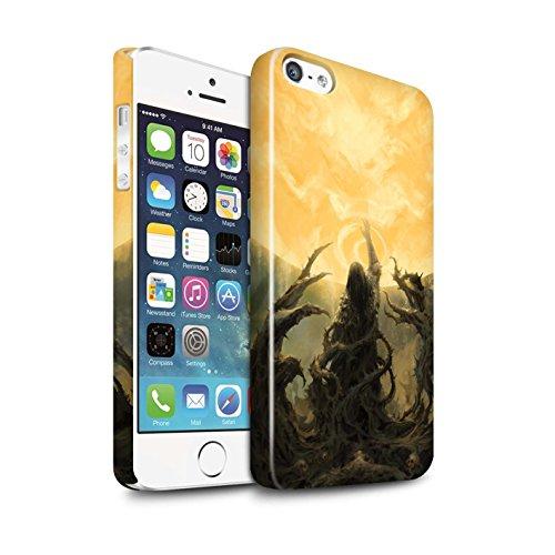 Offiziell Chris Cold Hülle / Glanz Snap-On Case für Apple iPhone 5/5S / Sonnengott/Reben Muster / Unterwelt Kollektion Sonnengott/Reben