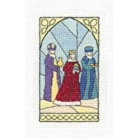 Wise - Conjunto de punto de cruz para tarjeta de Navidad.