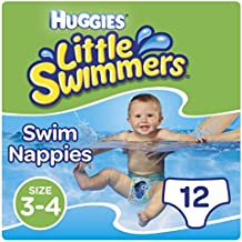Huggies Little Swimmers Disposable Swim Nappies, Size 3-4 - 12 Pants Total