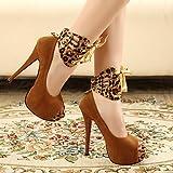 LFNLYX Womens Boots Fall Winter Comfort PU Dress Casual Chunky Heel Zipper Lace-up Black Brown Burgundy,Black,US7.5 / EU38 / UK5.5 / CN38