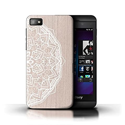 Coque de Stuff4 / Coque pour Blackberry Z10 / Mandala Design / Bois Dentelle Fine Collection