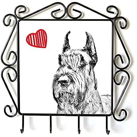 Schnauzer ritagliata, Appendiabiti con l'immagine di un cane e di cuore