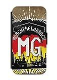 aina HTC ONE M8 Flipcase Tasche mit Magnetverschluss aufklappbar mit Standfunktion Stadt City Kennzeichen Mönchengladbach
