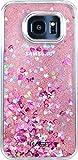 The Kase Paris Coque Pailletée pour Samsung Galaxy S7 Edge Pink Lady