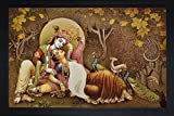 #7: SAF Radha krishna Krishna Painting || krishna painting || Krishna poster || Krishna wall stickers || SAF exclusive Framed Wall Art Paintings for Living room and Bedroom. Frame size (Wood, 35 cm x 3 cm x 50 cm, Special Effect Textured) || Large painting