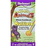 Bluebonnet Nutrition, Animalz Rainforest, Aliment entier à base multiple, au parfum naturel d'orange, 180 comprimés...