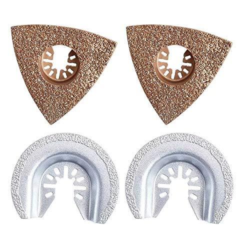 GracePainter Universal-Dreikant-Mörtel-Klinge, Ocsillating Multitool Zubehör, universelles oszillierendes Diamant-Mörtelsägeblatt, passend für Multimaster Craftsman Ridgid Ryobi und mehr
