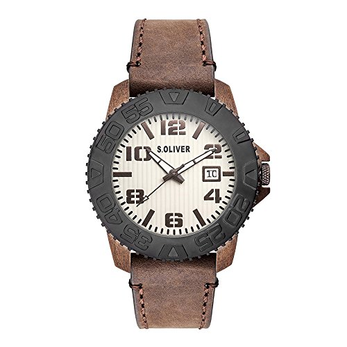 s.Oliver Men Watch brown SO-15154-LQR