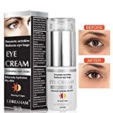 Augencreme, Eye Cream, Augenringe Creme, Augencreme Falten, Natürliche Hyaluron Anti-Aging Creme,um Linien und Krähenfüße zu mindern Anti-Falten Augenkontur