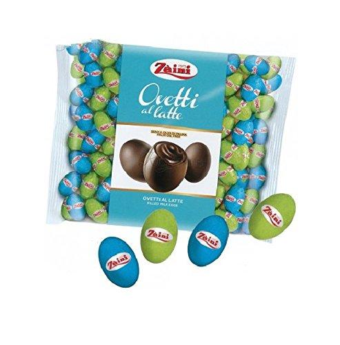 Zaini - ovetti pasqua di cioccolato ripieni di crema gianduia - senza olio di palma - 1 kg (latte)