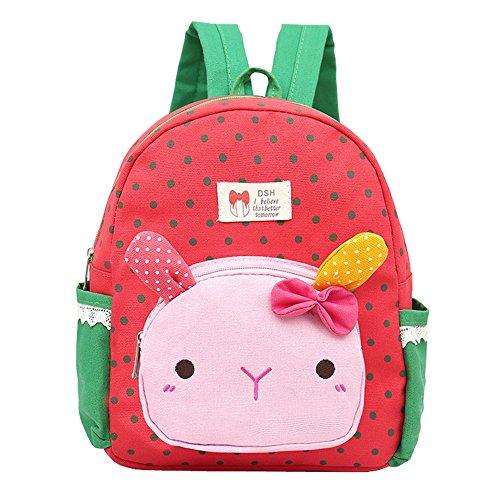 Imagen de dafenq  infantil niña guarderia  de jardín de infantes gato animales preescolar niños saco viajar lindo niña bambino rojo