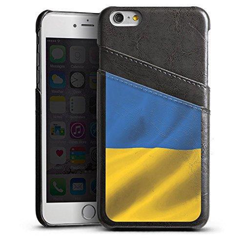Apple iPhone 6 Housse Étui Silicone Coque Protection Ukraine Drapeau Drapeau Étui en cuir gris
