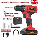 Powerful Cordless Drill Set & Screwdriver 21V 45N.m Impact Power Tool, Fast Charger