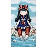 Textil Tarragó Gorjuss Toalla de Playa, Algodón, Azul, 30x40x3 cm