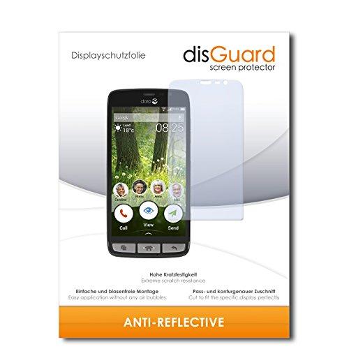 disGuard® Bildschirmschutzfolie [Anti-Reflex] kompatibel mit Doro Liberto 825 [4 Stück] Entspiegelnd, Matt, Antireflektierend, Extrem Kratzfest, Anti-Fingerabdruck - Panzerglas Folie, Schutzfolie
