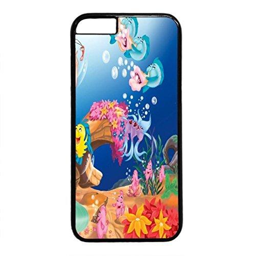 Cute Fish Design PC Black Case for Iphone 6 Benthic Organism