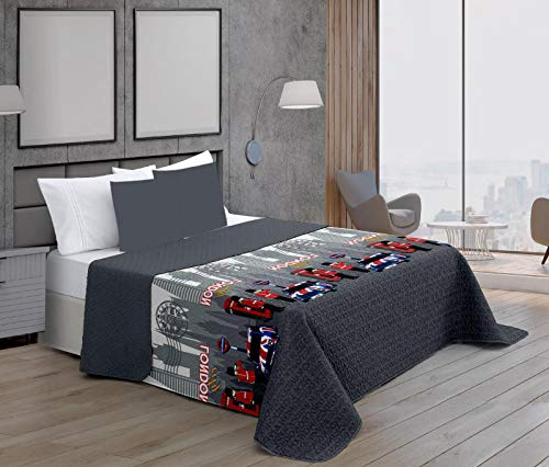 ForenTex Colchas Londres Cama 90 Reversible