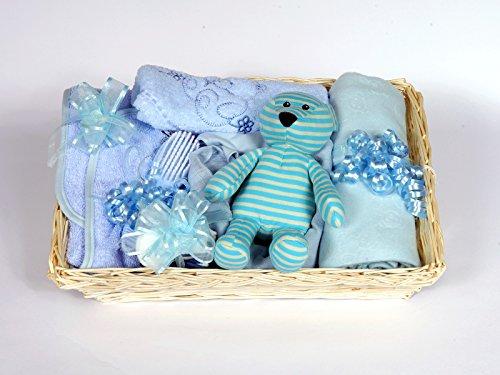 Als Geschenk verpackt blau Baby Dusche behindern–12Neugeborene Essentials