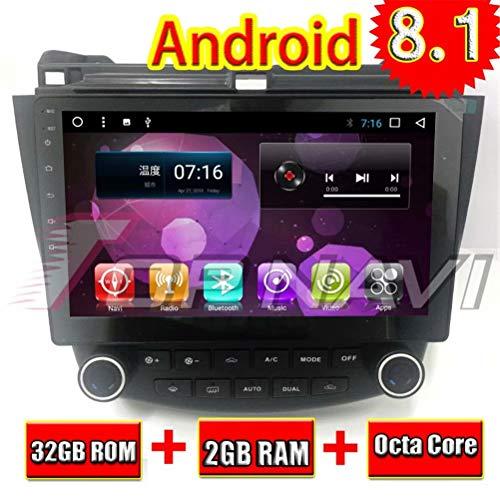 TOPNAVI Android 8.1 Pièces Auto Navigation Stéréo pour Honda Accord 2003 2004 2005 2006 2007 Autoradio GPS Unité Principale