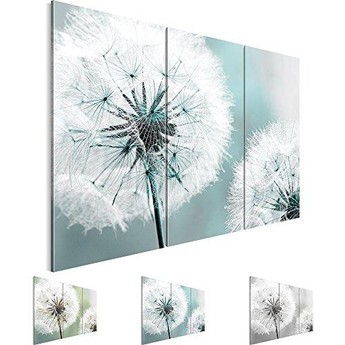 Bilder 120 x 80 cm - Pusteblume Bild - Vlies Leinwand - Kunstdrucke -Wandbild - XXL Format – mehrere Farben und Größen im Shop - Fertig Aufgespannt !!! 100% MADE IN GERMANY !!! - Blume – Natur 207131b