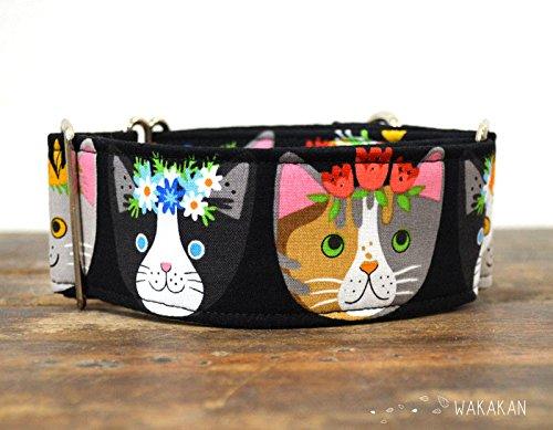 Collare-per-cani-martingale-Flower-Cats-fatto-a-mano-in-Spagna-da-Wakakn