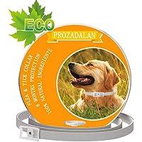 Collare Antipulci Cane Impermeabile, Design Impermeabile e 8 Mesi Efficacia Collare Antiparassitario Antizecche Regolabile Naturale per Piccoli Animali Domestici di Taglia Media(25inch) (1PCS)