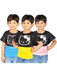 Gkidz Combo Of 3 Graphic Cotton Vest And Shrug