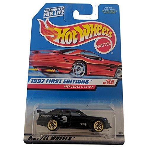 Hot Wheels 1997 First Editions Mercedes C-Class #516 (long card) - Black