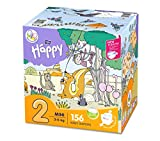 Bella Baby Happy Lot de 156 mini couches avec indicateur d'urine Taille 2