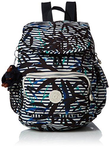 Kipling City Pack S, Sacs à dos femme, Mehrfarbig (Bamboo Stripes), 32x37x19 cm (B x H T)