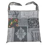 Set 6 cuscini SHABBY grigio rose rosa , trapuntati al centro 40x40 spessore 5 cm, copri sedia cucina, Euronovità