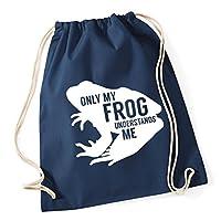 HippoWarehouse Only my frog understands me Drawstring Cotton School Gym Kid Bag Sack 37cm x 46cm, 12 litres