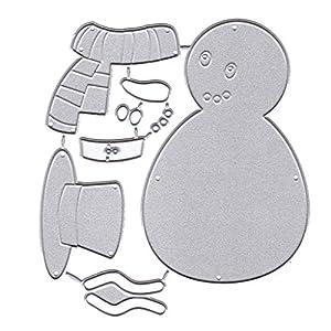 huyiko Weihnachten Schneemann Metall Cutting Dies Stencil DIY Scrapbooking Album Stempel Papier