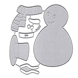 Troqueles de metal con diseño de muñeco de nieve de Navidad para hacer tarjetas, plantillas, álbumes de recortes, tarjetas de papel, decoración de manualidades