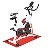 ReaseJoy Indoor Aerobic Training Cycle Exercise Bike Spin Bicycle Fitness Cardio Workout Machine 10KG Flywheel White