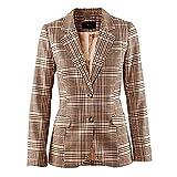 Kelry Mantel 2018 Damen Karierter Blazer Mantel Mode Jacke Outwear(S,Mehrfarbig)