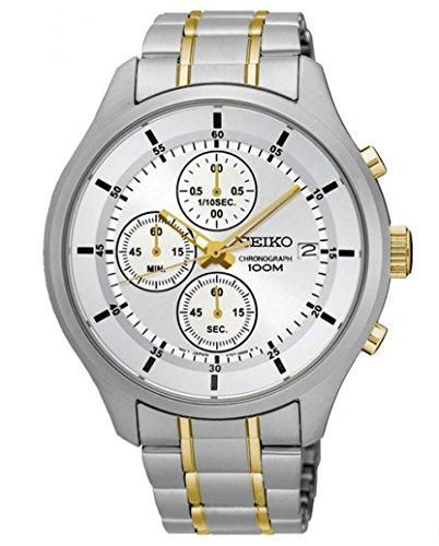 Seiko Herren-Armbanduhr, silber (Seiko Gold Armbanduhr Chronograph)