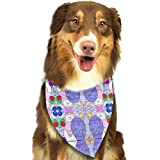 Rghkjlp Lady Rabbit Pet Bandana Washable Reversible Triangle Bibs Scarf - Kerchief for Small/Medium/Large Dogs & Cats