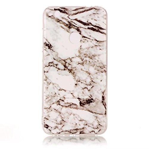 Fubaobao, custodia con design marmo per Huawei P8Lite, materiale poliuretano termoplastico con protezione ultrasottile su tutto il perimetro, verde chiaro F3