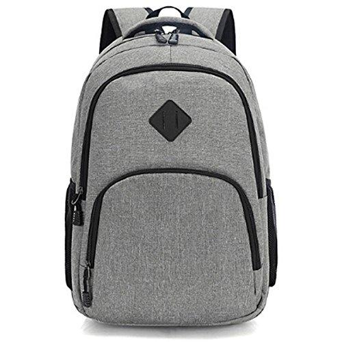 Studente All'aperto Viaggi Zaino Da Viaggio Borsa A Tracolla Del Computer,Black Gray