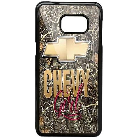 Cover Samsung Galaxy S7 Cell Phone Case Nero Camo Chevy Girls Chevrolet Logo L6S5RG