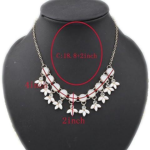Mebare(TM) resina Perline Bubble Dichiarazione Collana Donne Collana & Strass Pendenti Stile Estate colar gioielli per il partito regalo
