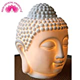 Reiki Crystal Products Vastu/Feng Shui Ceramic Buddha Head Aroma Diffuser Electric Essential Oil Lamp