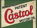 Castrol Öl, Retro Schild vintage/Garage/Auto–1,2mm starrer Kunststoff 300mm x 200mm x 200mm