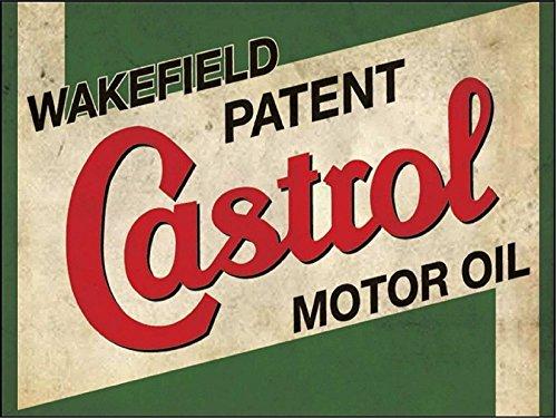 Castrol Öl, Retro Schild vintage/Garage/Auto–1,2mm starrer Kunststoff 300mm x 200mm x...
